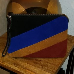 Offers Welcome Patricia Nash Suede Multi Wristlet